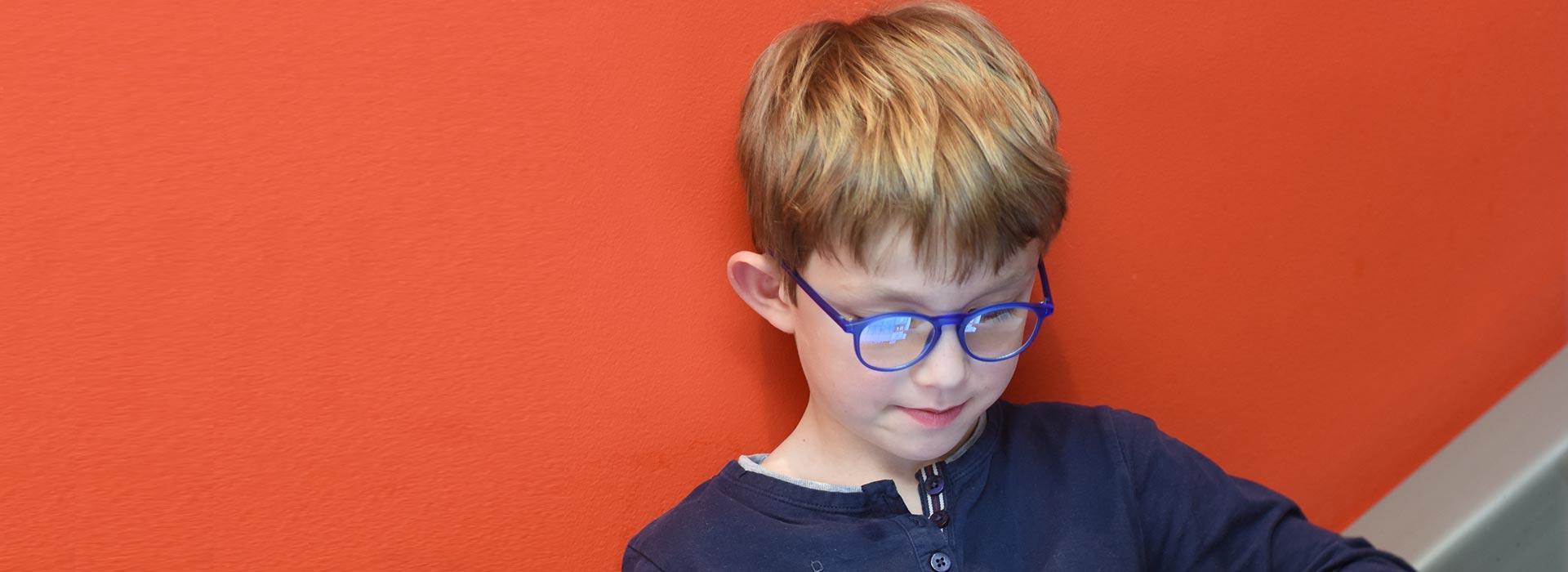 lunettes enfant bleues