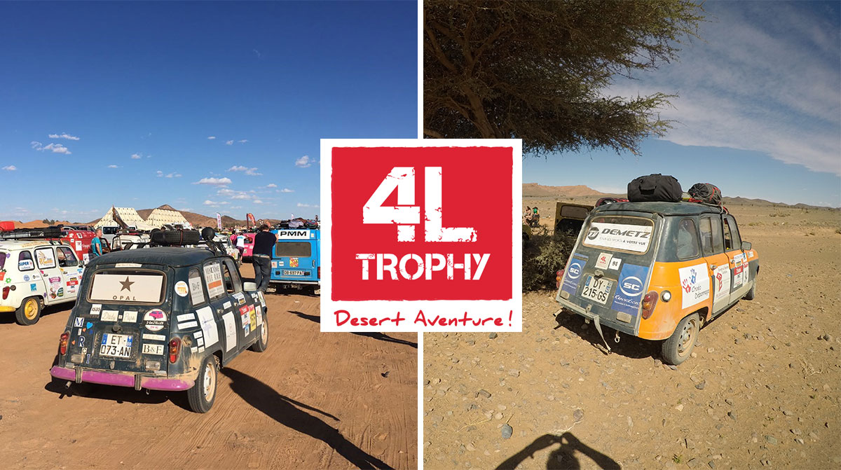 Three 4L Trophy Teams Sponsored By Opal And Demetz Set Out On The Big Adventure!